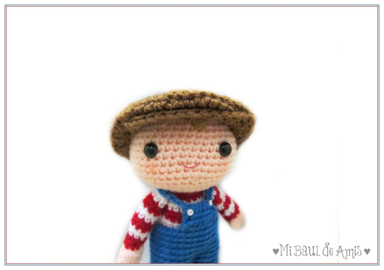 Amigurumi Doll Boy : Items similar to Crochet Boy Doll Amigurumi Stuffed Toy ...