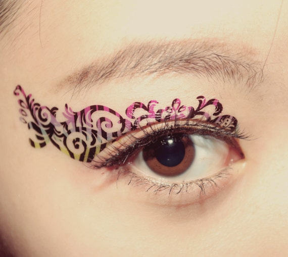 Items similar to left eye only temporary tattoo makeup for Eye temporary tattoo makeup