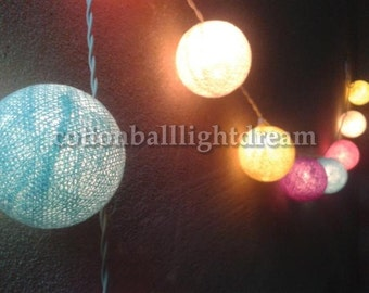 20 cotton ball sweet tone string light for wedding decorative,night party,birthday party,home decorative