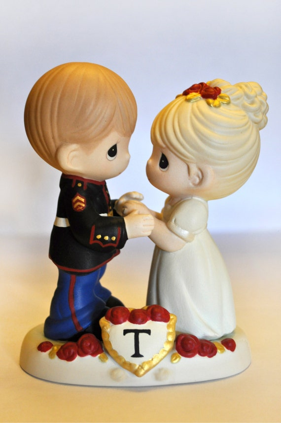 precious moment marine wedding cake toppers custom painted cake topper precious by ohpresh 18706