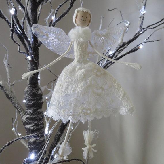 Christmas Fairy Decorations: Lace Christmas Angel/Fairy Decoration