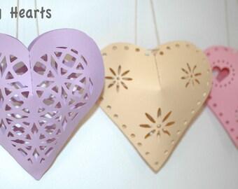 Beautiful Hanging Heart 3D SVG File