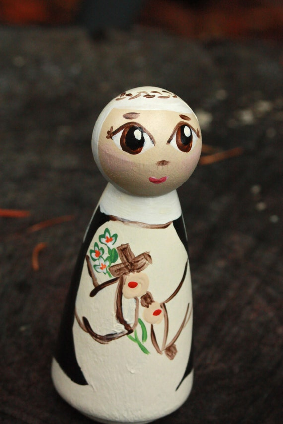 St Catherine of Siena Peg Doll