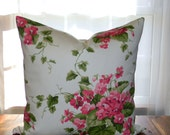 SPRING SALE 50% OFF! Floral Pillow Cover, Violets, Feminine Throw Pillow, Decorative Pillow Cover