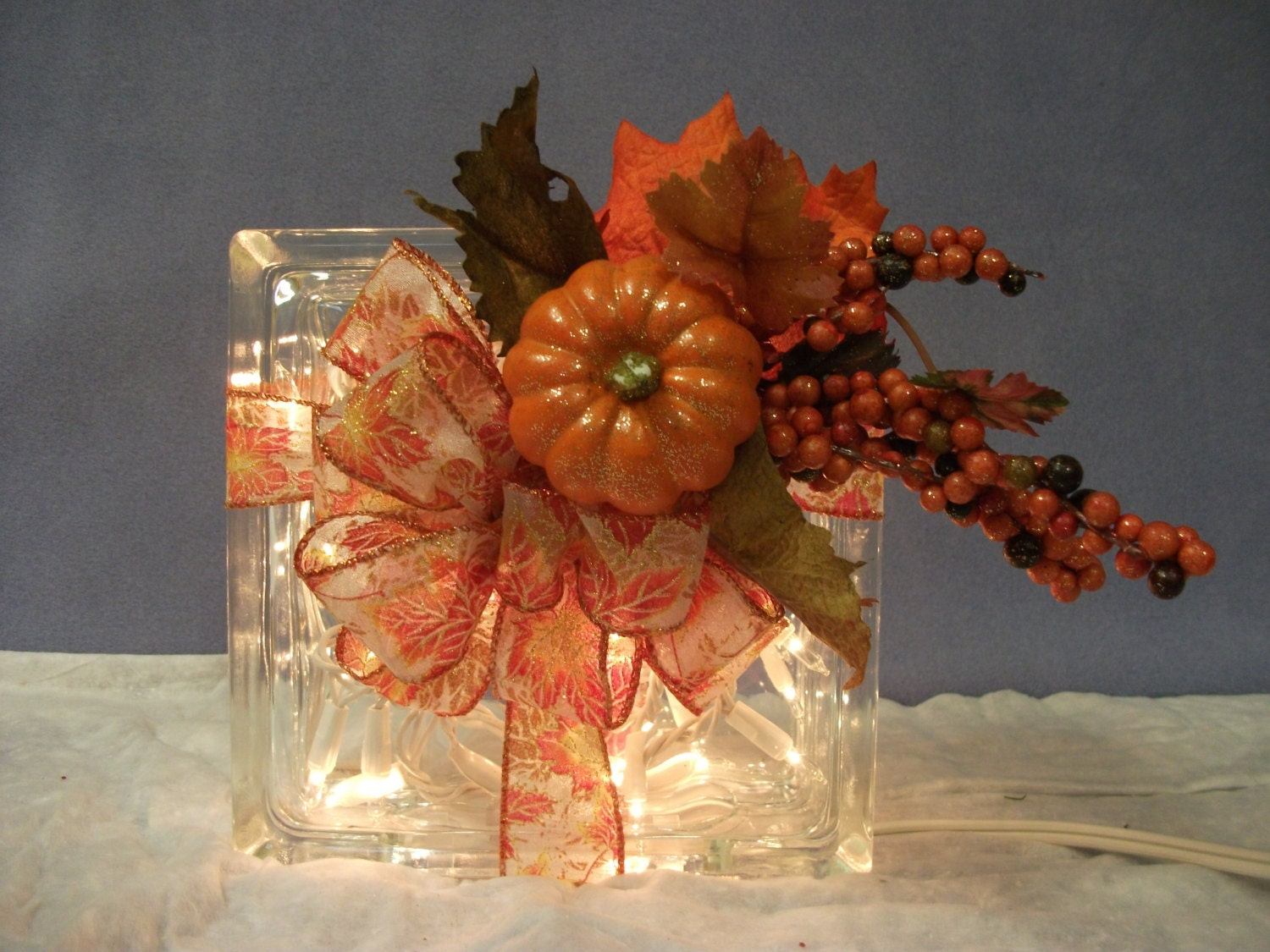 glass craft ideas decorative handmade lighted glass block for a hint of fall 2091