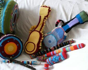 musical instruments cases, ukulele bag, flute case, djembe hat, soprano ukulele case, tin whistle bag, flute bag, djembe bag, djembe cover