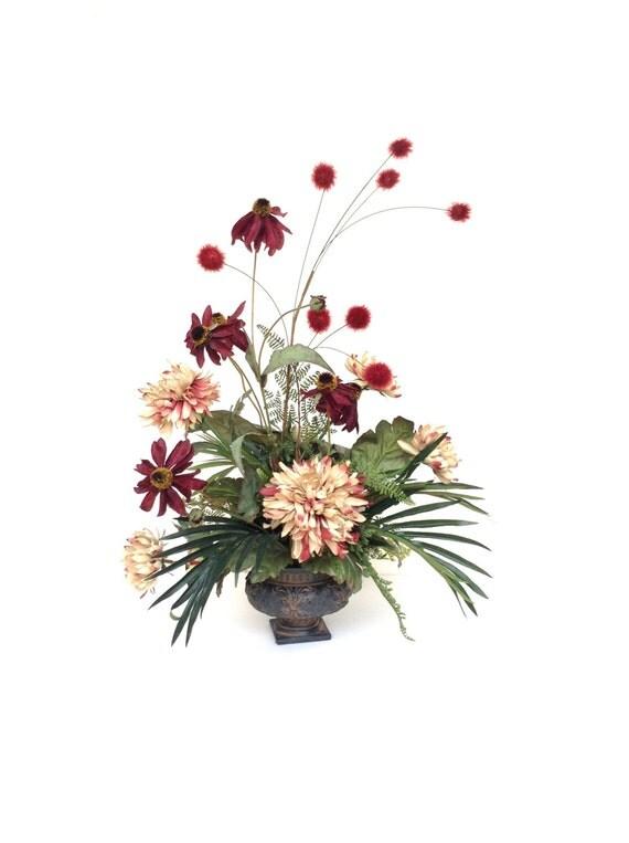 Silk flower arrangement floral home decor