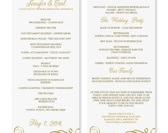 Image Gallery of Free One Page Wedding Program Templates For ...