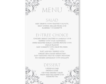 Wonderful Microsoft Word Menus Template . Free ... To Free Menu Templates Microsoft Word