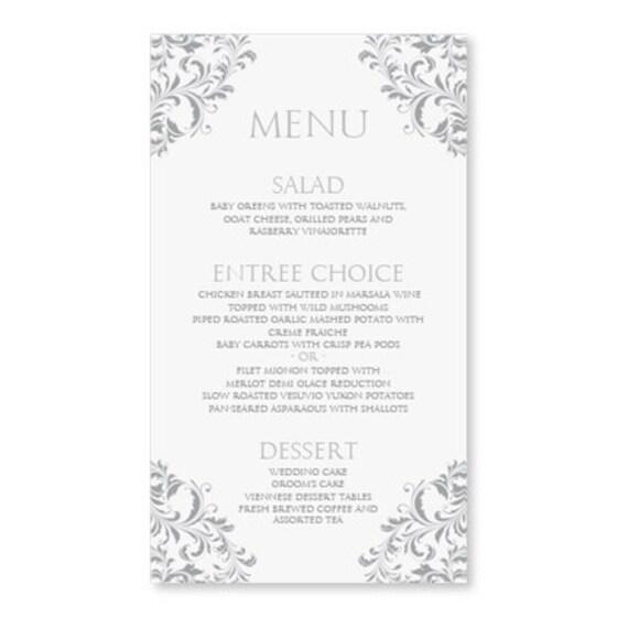 Menu Matrimonio In Word : Wedding menu card template download di diyweddingtemplates
