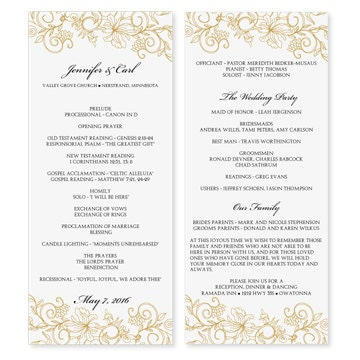 Wedding program template download instantly by karmakweddings for Free printable wedding program templates word