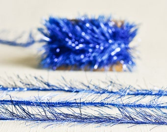 Tinsel Twine in Royal Blue - 6 Yards - Bright Dark Ribbon Metallic Garland Decorative Packaging Gift Wrapping Wedding Fun Party Decor