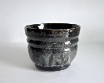 Black and White Waterfall Ceramic Dish