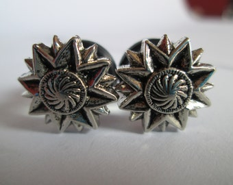 Silver Eight Point Star Plugs - Available in 0g, 00g, 7/16 in, and 1/2 in.