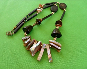 Brown-tone Beaded Necklace (Item 349)