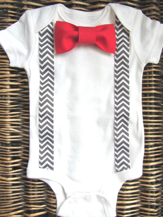 Baby boy clothes baby bow tie red bow tie and by sewlovedbaby for Baby shirt and bow tie