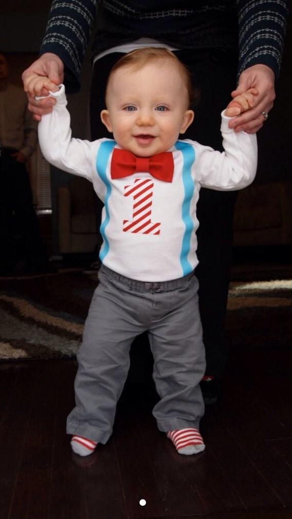 Boys First Birthday Outfit Boy Bow