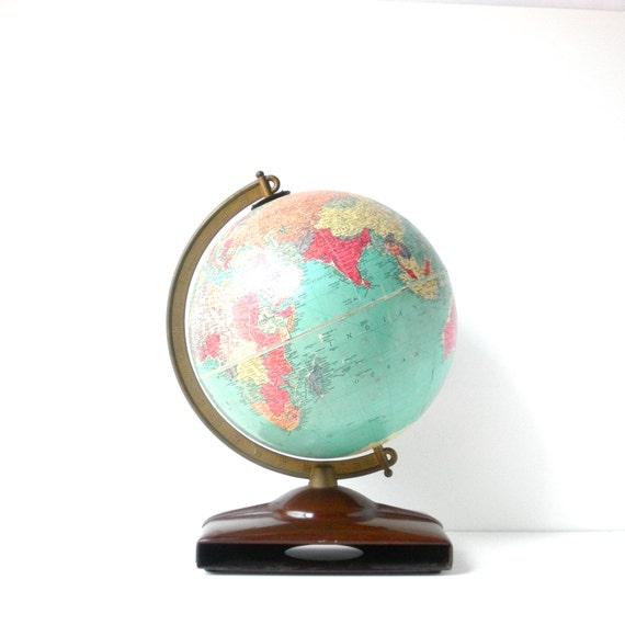 Mid Century Replogle 10 World Globe Home Decor
