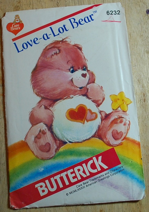 Butterick 6232 - Care Bears Pattern - Love a Lot Bear