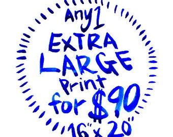 Choose Any 1 Extra Large Canvas Art Print - Custom size - 16x20 inch / 18x24 / 20x24 / 20x30 / 22x28 / 24x30 / 24x36 / 30x40 / 36x48 / 48x60
