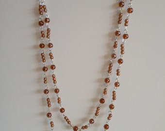 Handmade necklace with Brown beads