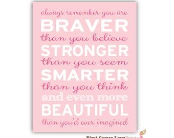 Art custom colors teen quote print inspirational girl quote