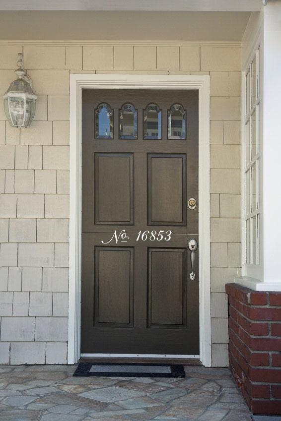 Vinyl Decals Door Numbers Decal House Numbers Front Door