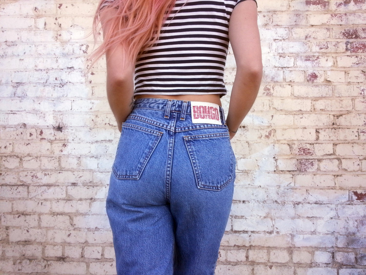 Old High Waisted Jeans - Jeans Am