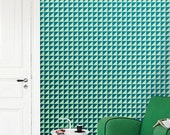 Removable self-adhesive modern vinyl Wallpaper wall sticker - Wall decor Checker pattern decal  C012