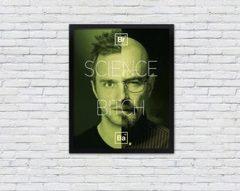 "Breaking Bad Poster / Walter White and Jesse Pinkman Art Print / ""Science, Bitch"""