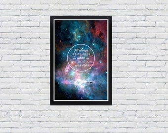 Doctor Who Poster / I'll Always Remember / Matt Smith Print 12x18