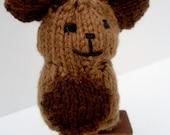 Brown Bear, Fairy Tale & Fantasy Miniature Doll, hand-knit