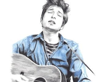 Bob Dylan limited giclee print