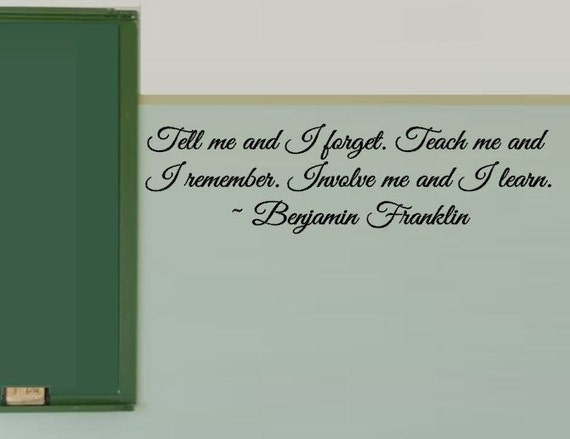 Classroom Decoration Wall ~ Benjamin franklin vinyl decals classroom decal wall