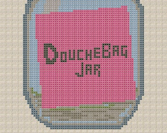 "New Girl ""Douchebag Jar"" Cross Stitch Pattern"