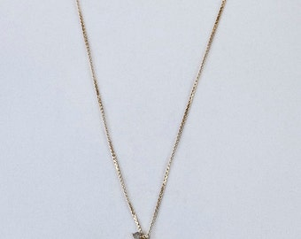 Delicate Drop and Cluster Necklace