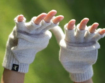 Light Grey Gloves for Woman