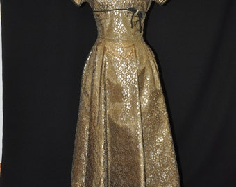 Bronze and Gold Dress - 1950's