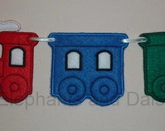 Train Banner Embroidery  Design files.