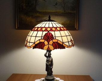 Lamp Baroc Caro Tiffany Style Stained Glass