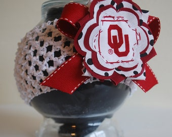 University of Oklahoma OU Flower Headband for baby