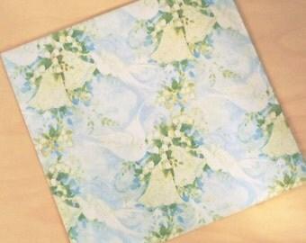 Vintage Pastel Doves & Bells Wedding Anniversary Gift Wrap One Sheet