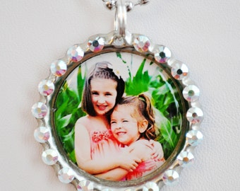 YOUR OWN PHOTO on a bottlecap necklace