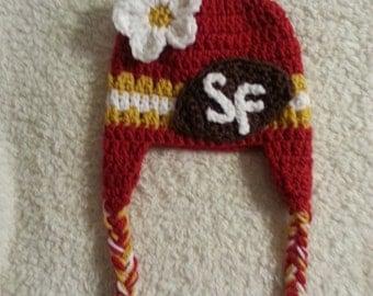 Crochet SF 49ers Hat