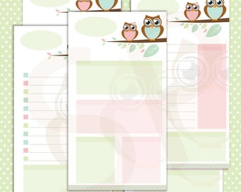 Treetop Romance Downloadable Filofax pages personal size