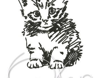 MACHINE EMBROIDERY FILE - Little kitty