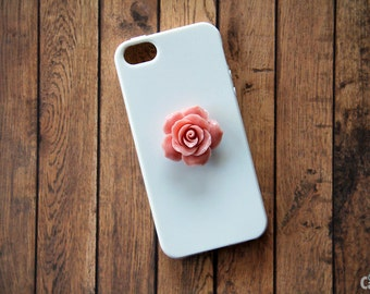 Flower iPhone Case White iPhone 5 Case Flora iPhone 5s Peony Samsung iPhone 7 Samsung iPhone 7 Plus Case Cute iPhone 7 Case Girly iPhone 6