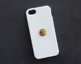 White iPhone 5 Case iPhone Case Nautical Anchor iPhone 5s Case Gold Sea Anchor iPhone 6s iPhone 7 Plus Case iPhone 6s iPhone 7 Case iPhone 6
