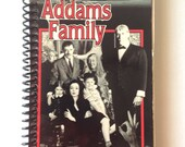 "VHS Journal - ""The Addams Family"" Handmade Blank Spiral Bound Journal"