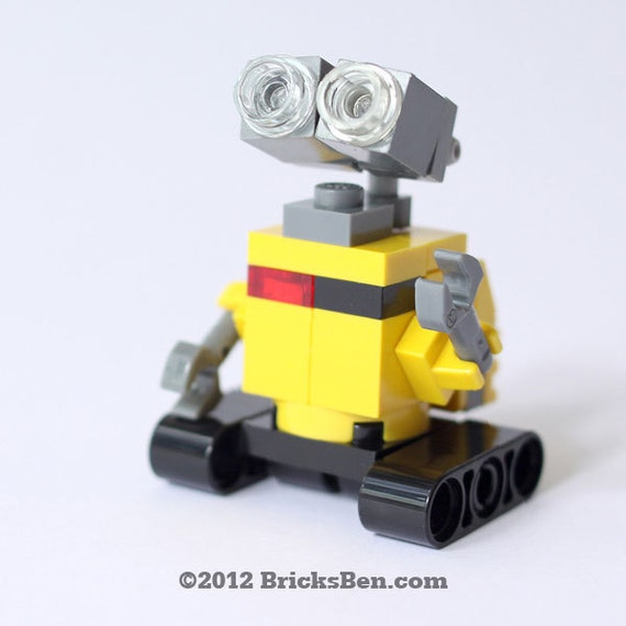items similar to custom lego wall e on etsy. Black Bedroom Furniture Sets. Home Design Ideas